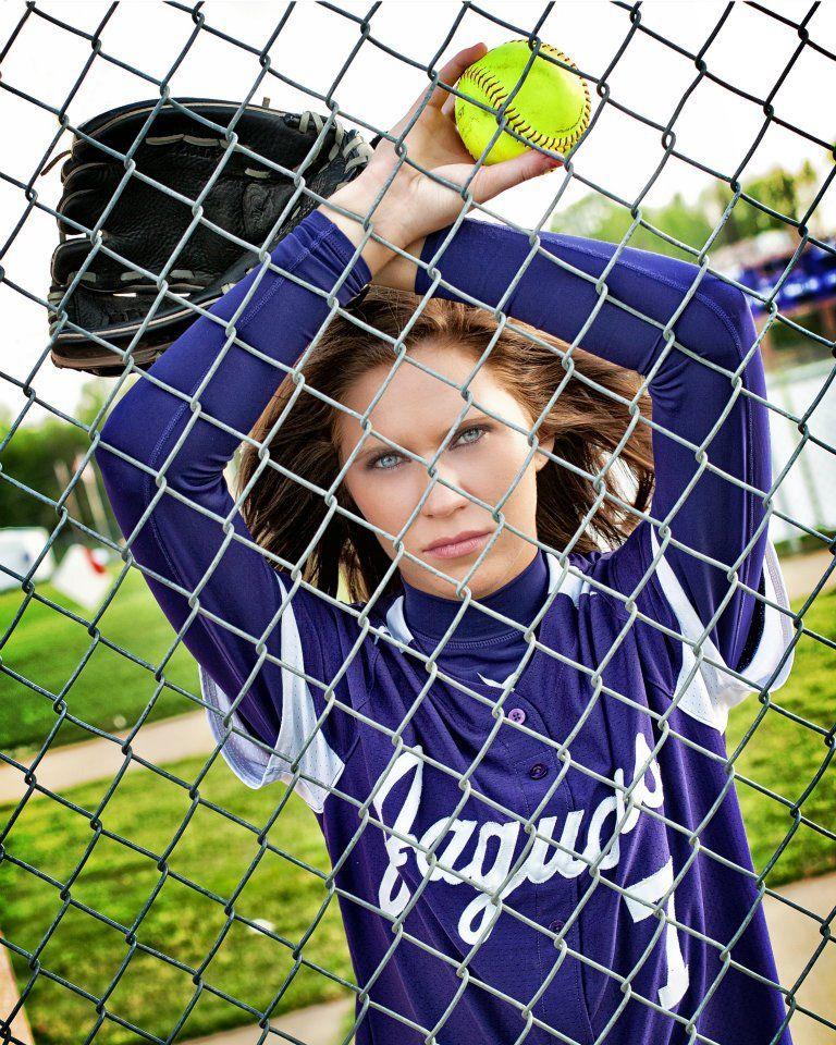 Cool Softball Pose - Senior Pic Idea