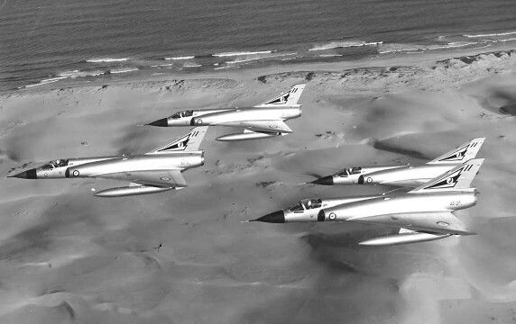 RAAF Mirage in formation