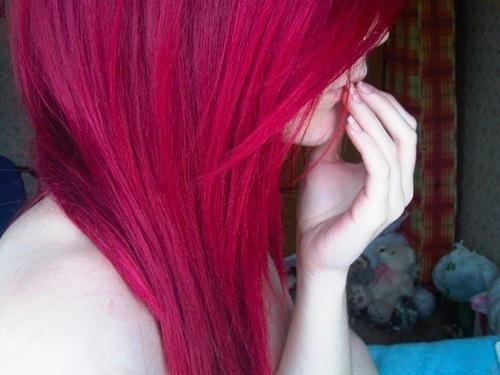 cheveux fushia coiffure pinterest - Coloration Cheveux Magenta