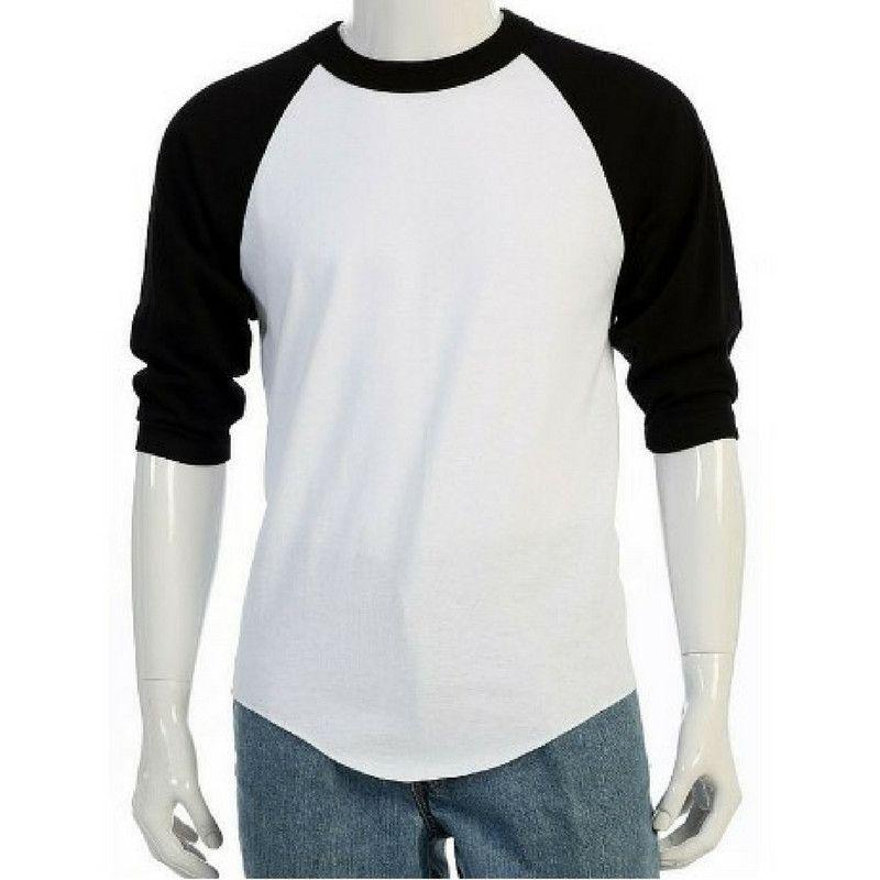 separation shoes 2b897 43d67 New 3/4 Sleeve Plain Baseball Raglan T-Shirt Tee Mens Sports ...