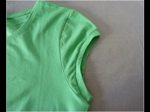How to make cute cap sleeves on t-shirt  3a5f3713276