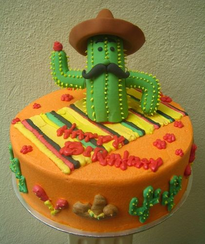 mexican birthday cake mexican cactus cacti mexicans and cactus cake 5851