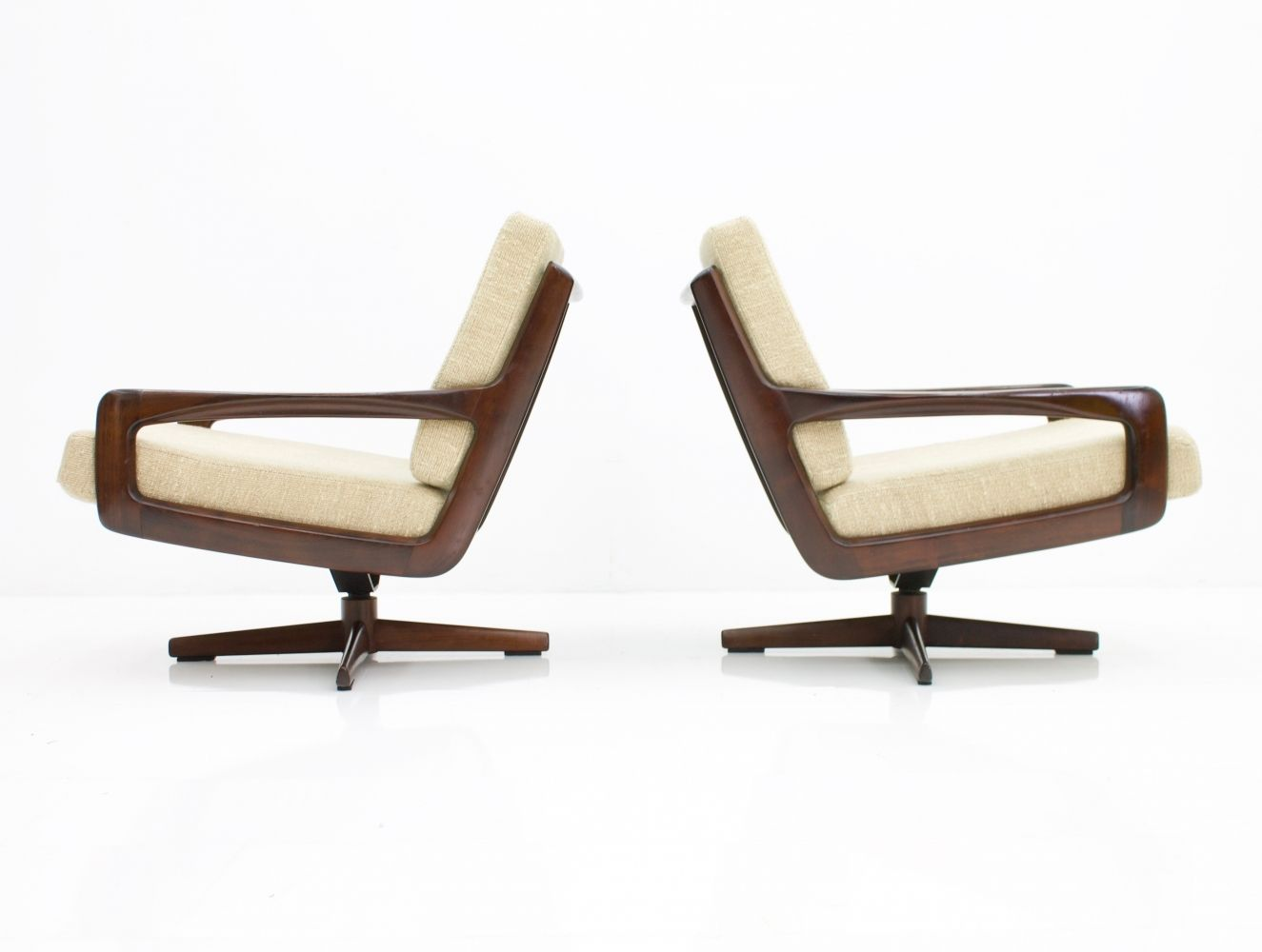 Pair Of Swivel Chairs By Eugen Schmidt Soloform 1960s Swivel Chair Chair Chair Design