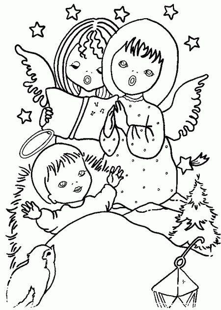 disegni da colorare e stampare di gesu bambino