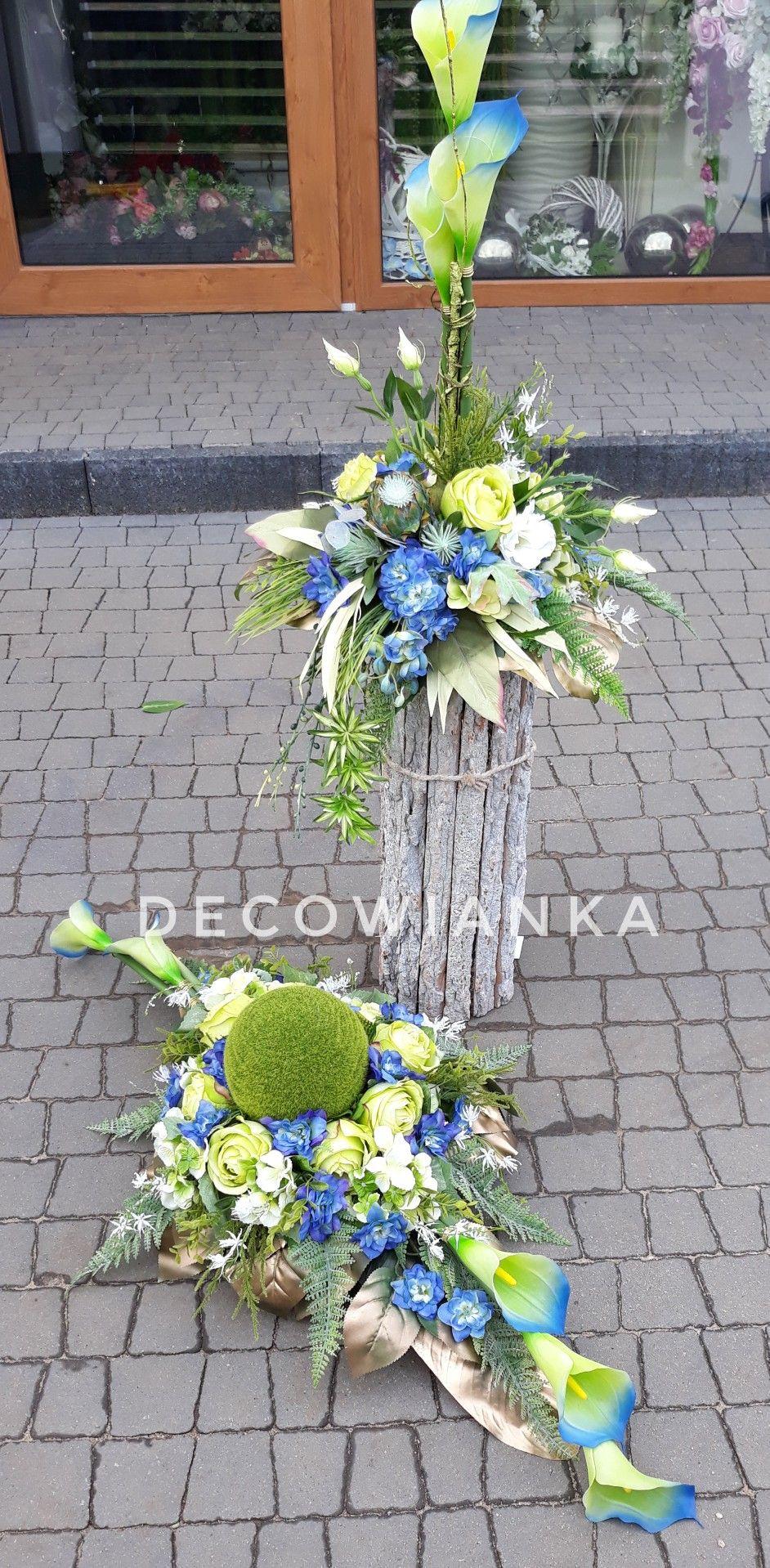 Kompozycja Nagrobna W Zestawie Grave Decorations Funeral Memorial Flower Arrangements