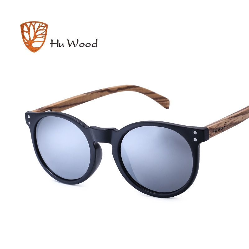 6ee6a8b041 HU WOOD Brand Designer Polarized Sunglasses Men Plastic Frame Wood  Earpieces Fashion Oval Sun Glasses Mirror Lens UV400 GR8003