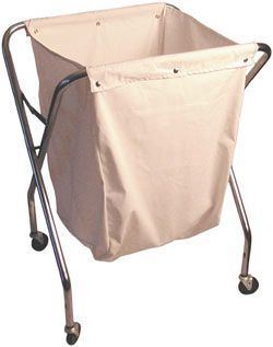 Commercial Grade Landry Hamper With White Bag Laundry Clothes