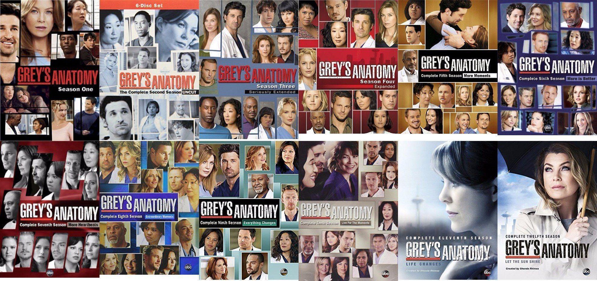Greys Anatomy Dvd Seasons 1 14 Set Tvshow Greys Anatomy
