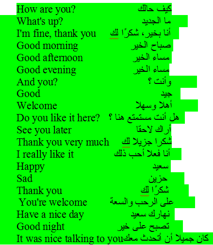 عبارات بالانجليزي مترجمة شائعة الاستخدام مناسبة للمبتدئين Common Phrases Do You Like It Arabic Quotes