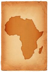 Africa Map Background.Africa Map On Old Paper Background Illustration Royalty Free