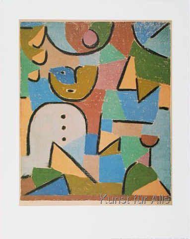 Klassischer Kunstdruck Figur Im Garten Von Paul Klee Klee Paul