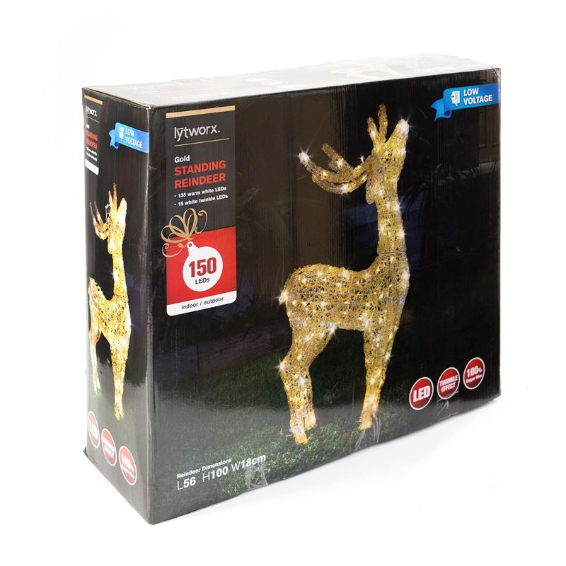 Find Lytworx Gold Standing Head Up Reindeer At Bunnings Warehouse Visit Your Local Store For The Widest Range Of Lighting Elect Reindeer Christmas 2017 Wide