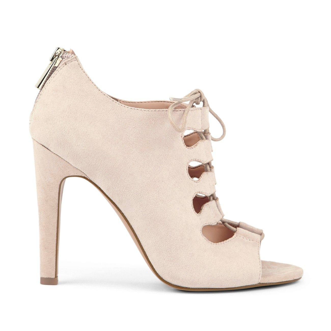 Mandee, Lace Up Heel/ Color: Nude ♥