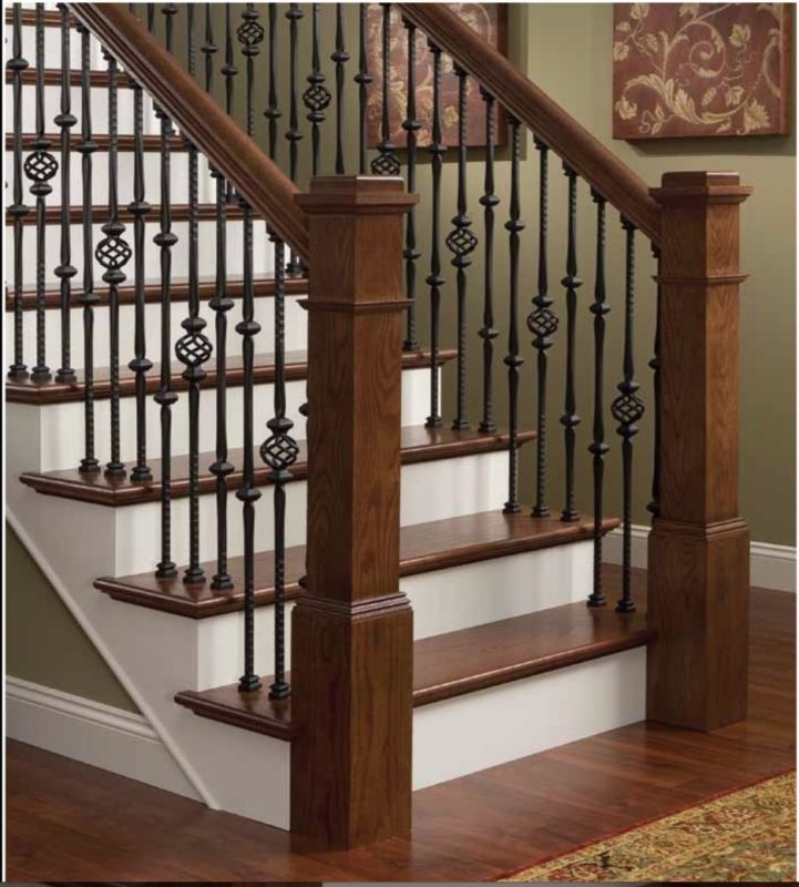 Best Stair Parts Hammered Stair Iron Balusters Gothic Style 640 x 480