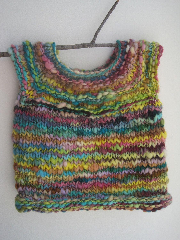 74d4cf55d461 The Birthday Vest - Handspun Knit Toddler Sweater Vest.  65.00