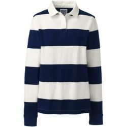 Photo of Large Size Striped Rugby Shirt – Blue – 52-54 from Lands 'End Lands' End