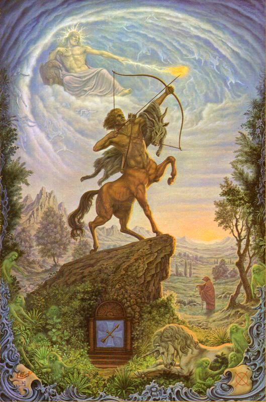 Johfra Bosschart,  Zodiac signs - Sagitarius (Zodiakserie - Boogschutter, October 27, 1974)