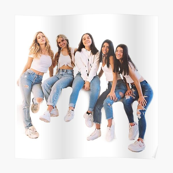 Hype House Posters Girls Spring Outfits Friend Photoshoot Famous Girls