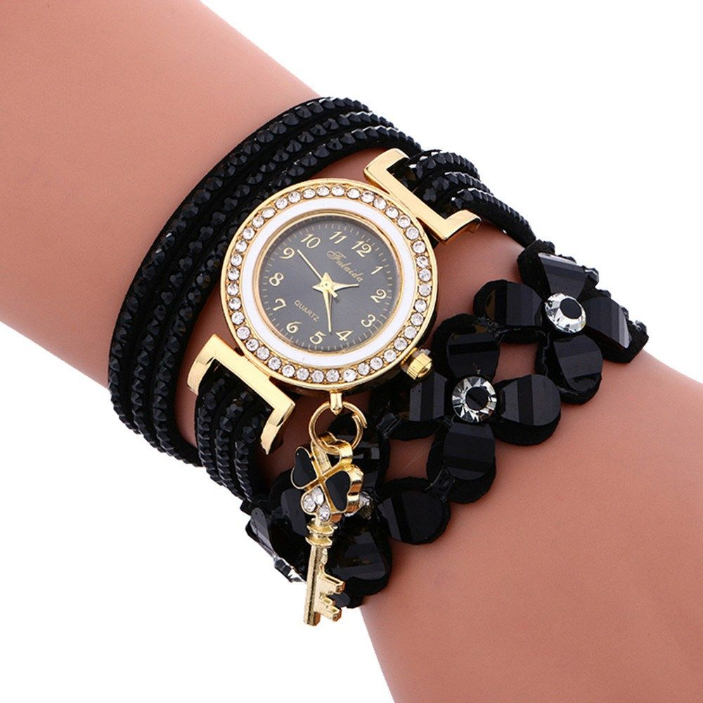 3e0e28ba2d2 Fashion Watch Chimes Diamond Leather Bracelet Lady Women Wrist Watch Casual  Female Dress Clock Relogio Feminino relogio now available on Affordable ...