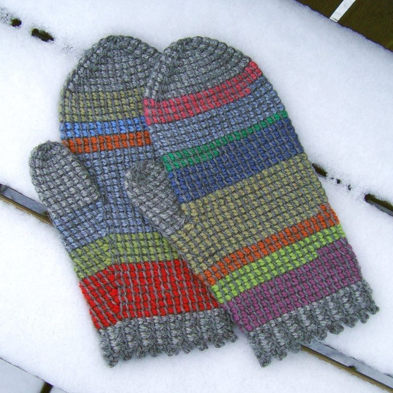 Crochet Mittens Using Left Over Yarn Free Pattern Crochet