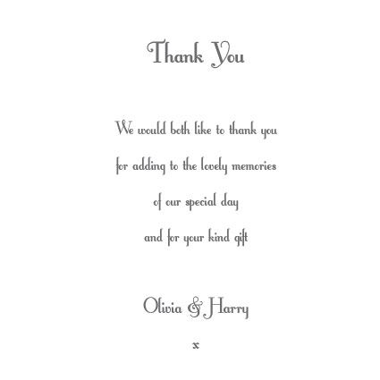 Wedding Thank You Wording – Wedding Gift Thank You Card