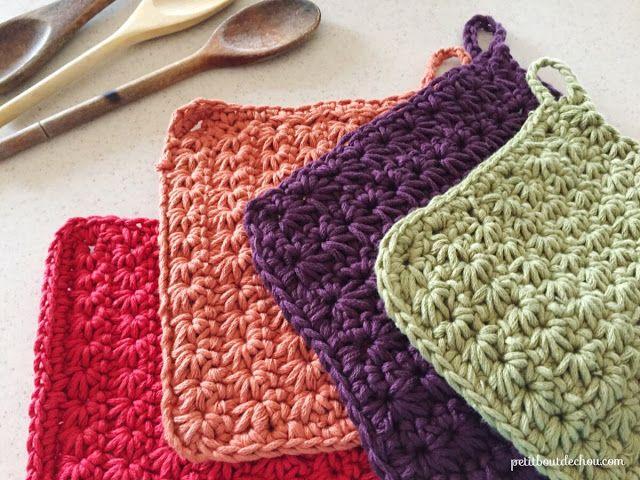 DIY star stitch crochet potholder | Lisa might like | Pinterest ...