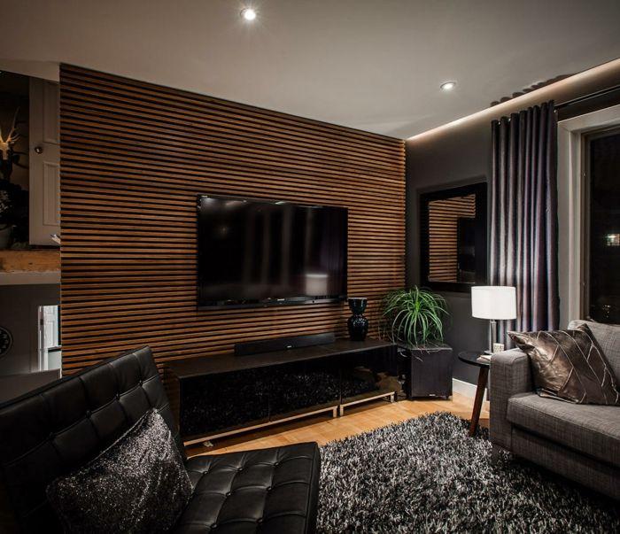 kreative wandgestaltung holzverkleidung innen deko ideen - deko fr wohnzimmer