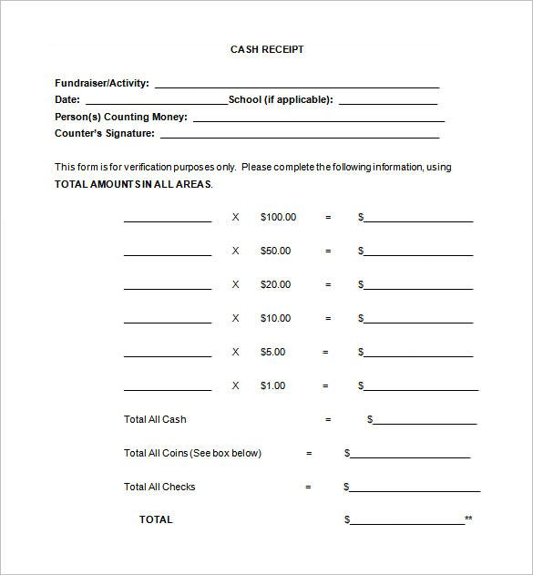 Free Cash Receipt Template , Receipt Template Doc for Word - cash receipt sample