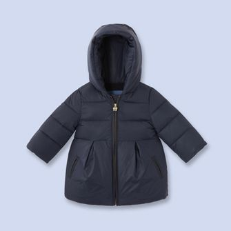84a3bf8b6 Quilted nylon coat - Girl - NAVY BLUE - Jacadi Paris