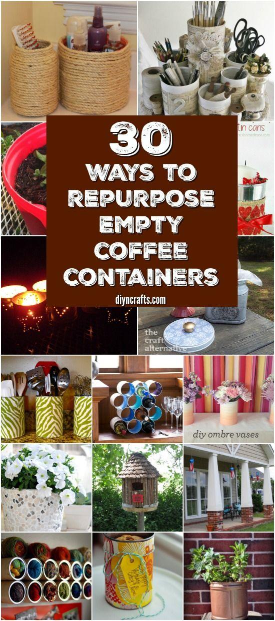 30 Crafty Repurposing Ideas For Empty Coffee