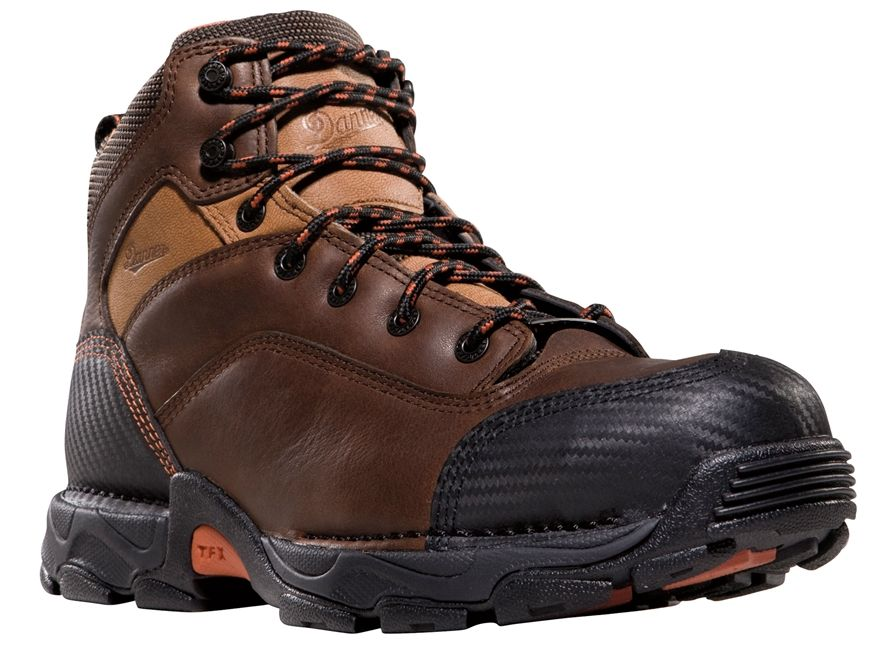 "Product detail of Danner Corvallis 5"" Waterproof Uninsulated Non-Metallic Toe Work Boots Leather Brown Men's"