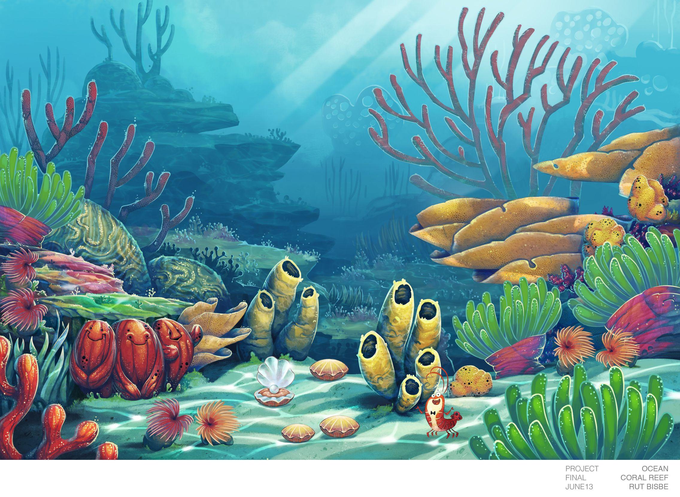 2272x1660 Coral Reef Drawings Drawn Coral Reef Underwater ...