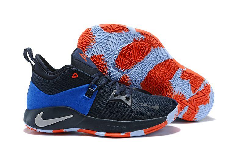 "e893796ae61f Men s AJ2039-400 Nike PG 2 ""OKC Home"" Dark Obsidian Navy-Kinetic Green"