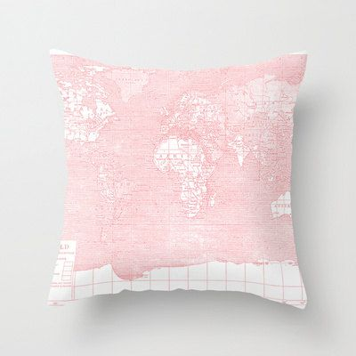 Her world pink world map pillow by mapology on etsy 4000 her world pink world map pillow by mapology on etsy 4000 gumiabroncs Choice Image