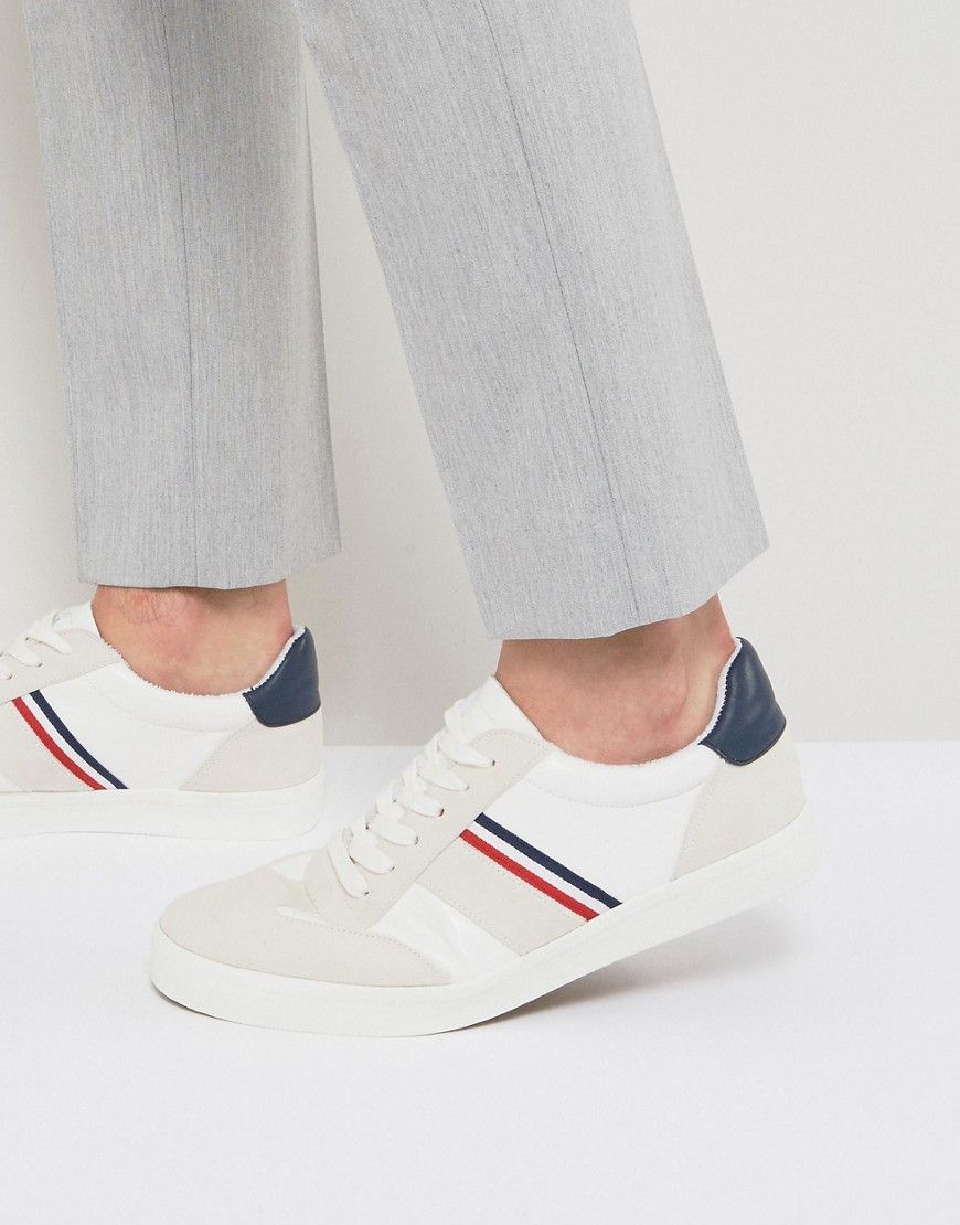 Retro Sneakers With Towelling Lining