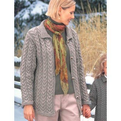 Free Intermediate Women\'s Cardigan Knit Pattern | Free Knit Cardigan ...
