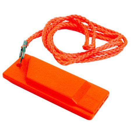 Attwood Safety Whistle, Orange, Multicolor