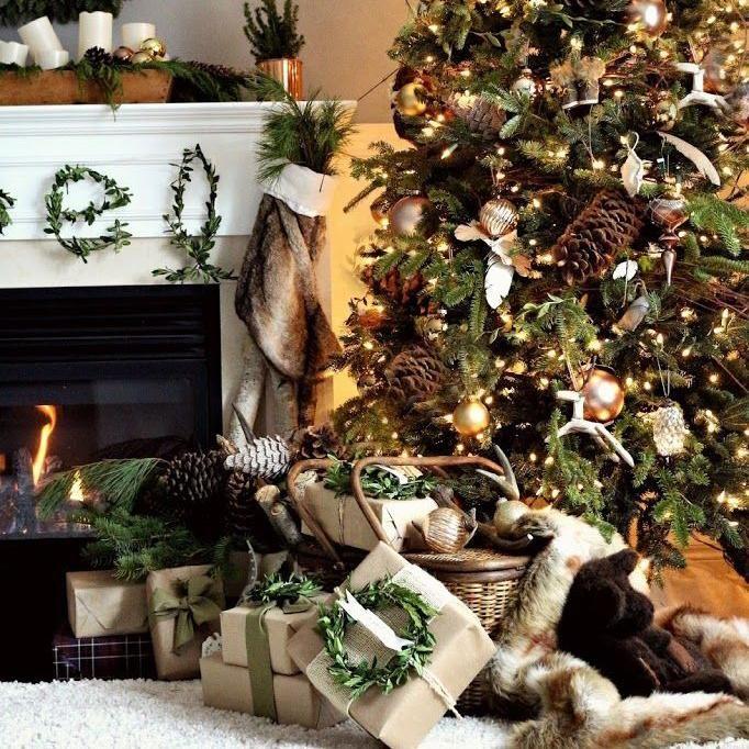 Sapin De Noël Décor Rustique Christmas Noël Rustique