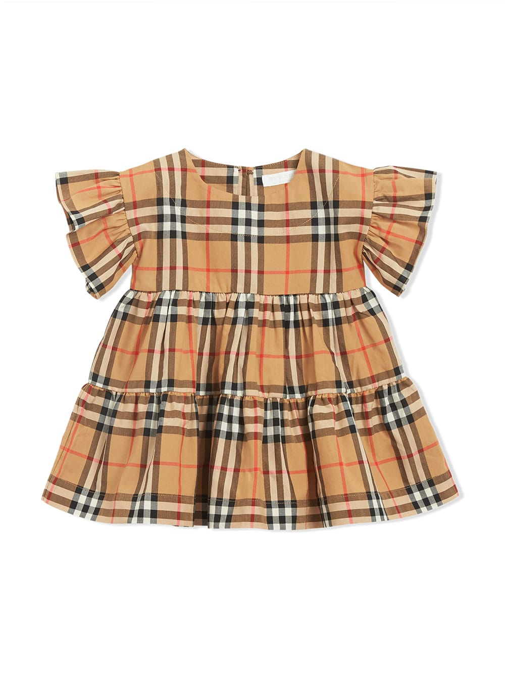 8d5e65449dc Burberry Kids Ruffle Detail Vintage Check Dress with Bloomers ...