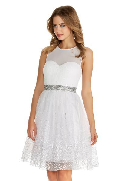 Dresses including prom party and maxi dresses quiz clothing buy white and silver chiffon glitter prom dress online now from quiz junglespirit Image collections