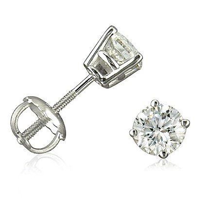stud earrings silver gold products cate mia diamond jewelry sterling post simulated chloe