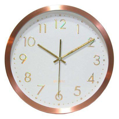 """Penny for Your Time Clock - Copper (12"""").Opens in a new window"""