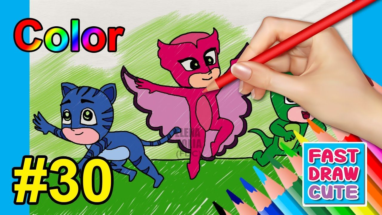 How to draw PJ Masks Superhero - Drawing and Coloring Catboy ...