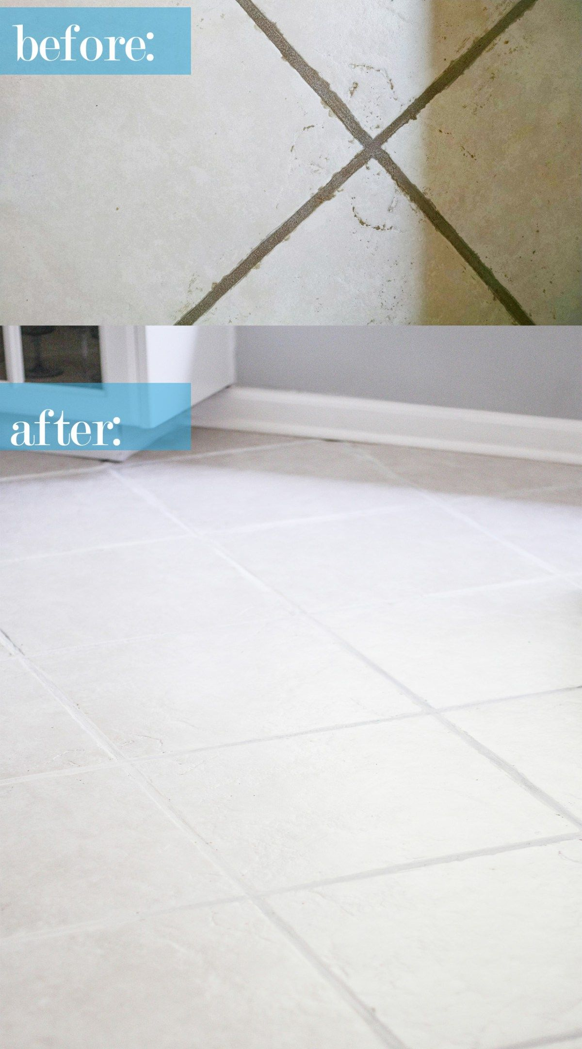 The Easiest Way To Clean Filthy Neglected Tile Flooring