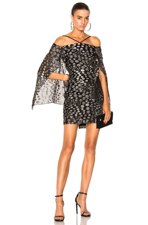 0040e7994cc Roland Mouret Meedstead Blossom Fils Coupe Mini Dress in Dove Grey   Black