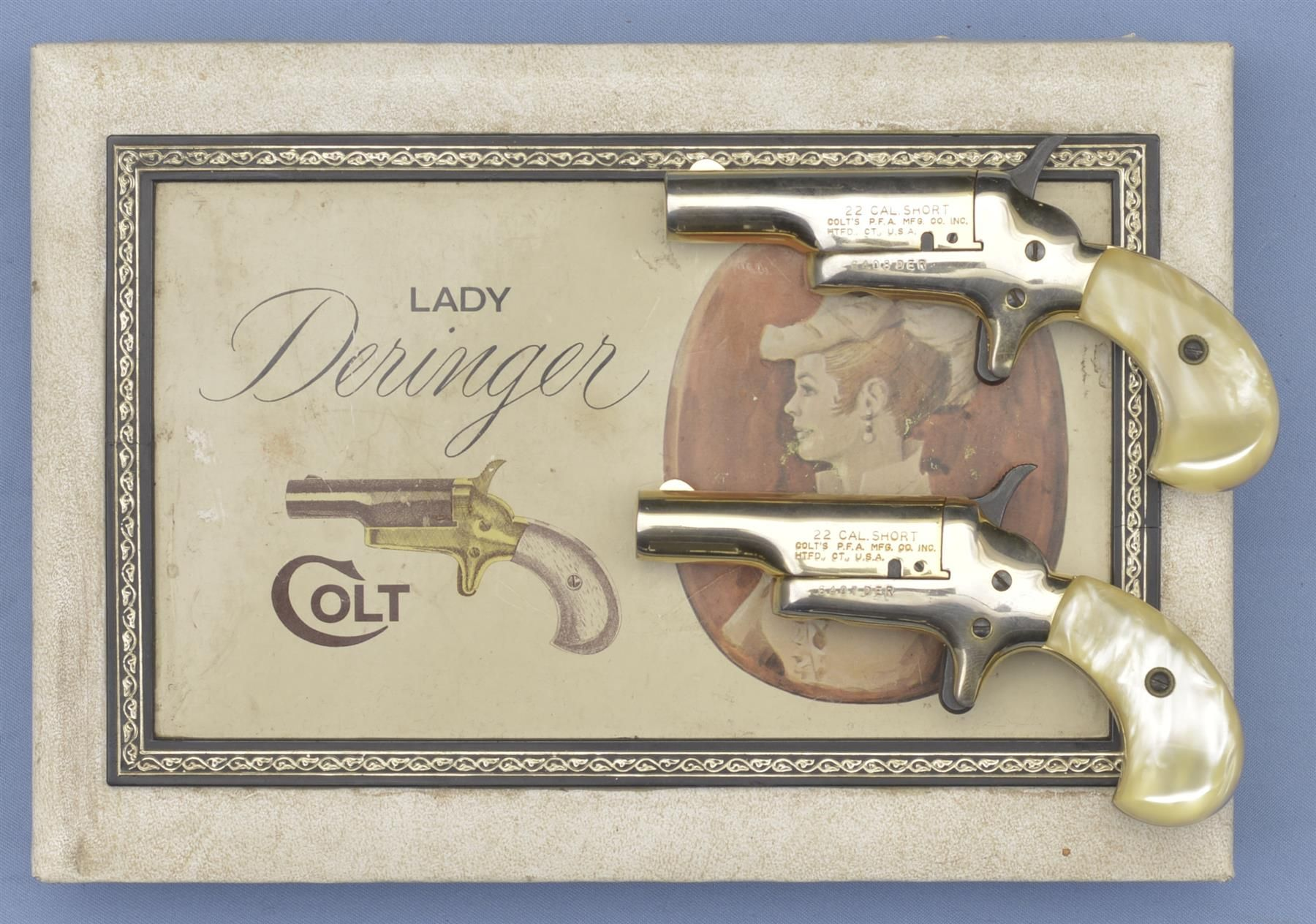 Cased Pair of Colt Lady Deringers - A) Colt Lady Model Single Shot Deringer