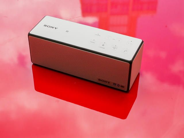 Red Sony SRS-X3 Red Portable NFC Bluetooth Wireless Speaker with Speakerphone