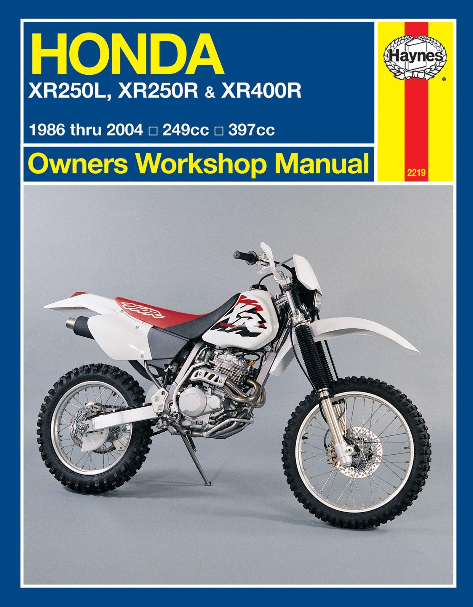 Haynes M2219 Repair Manual for Honda XR250L / XR250R / XR400R