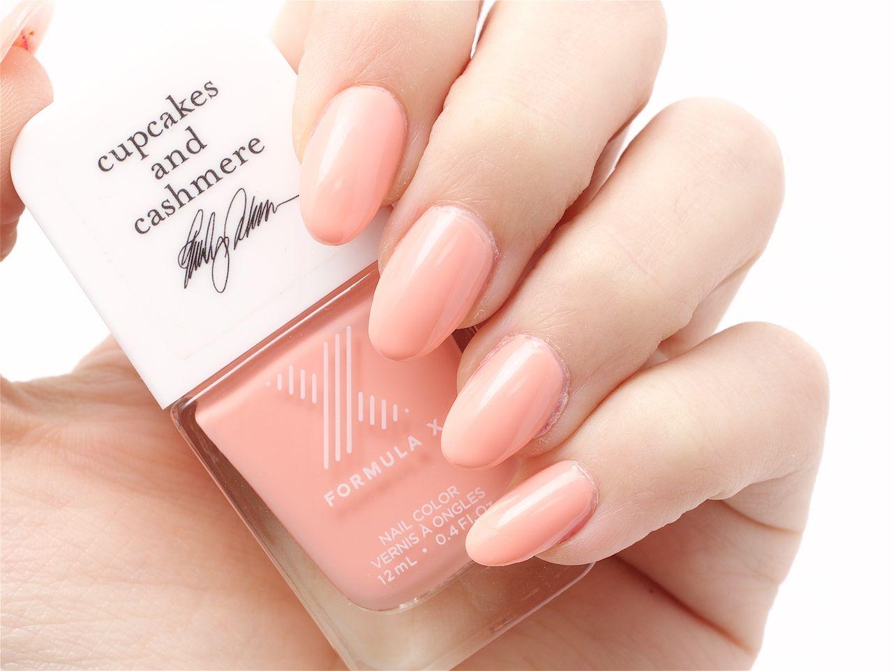 Cupcakes & Cashmere + Formula X Nail Color in Peach Tea | Hair ...