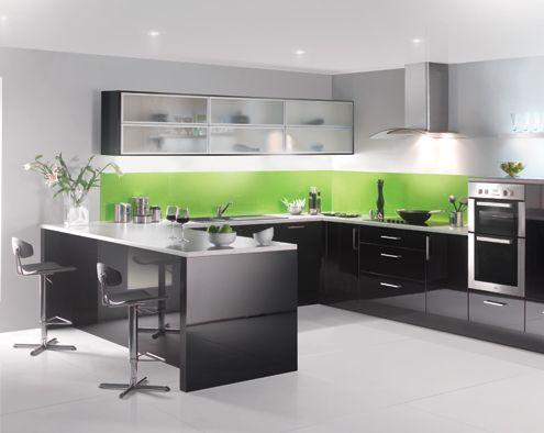 blackgloss lakes modern kitchen - Modern Kitchen Colours